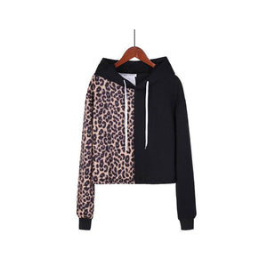 Hooded  Loose Fitting  Patchwork Hoodies