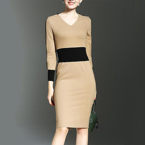 Two Way Color Block Bodycon Dresses