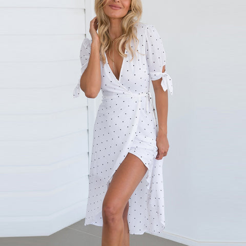 Bohemia V Collar Vacation Dress