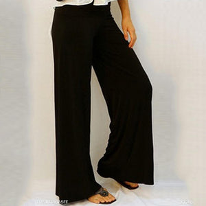 Long  Fitted  Casual  Plain  Pants