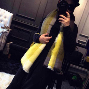 Fashion Winter Color Blocking Scarf