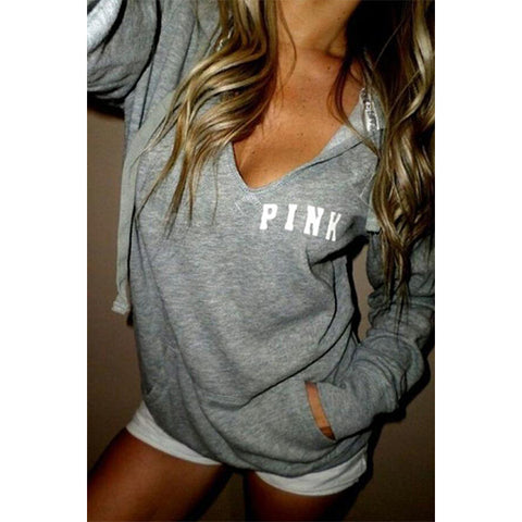 Hooded  Letters  Casual  Hoodies