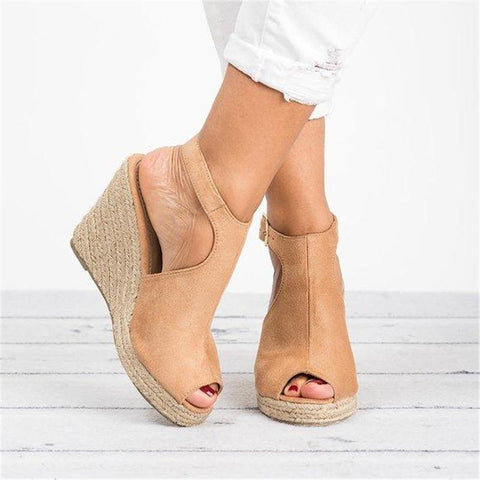 Fashion Wedge Heel Toe Sandals