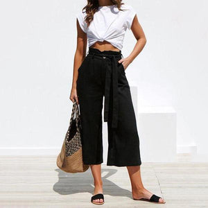 JOJORUBY Strap Wide Leg Casual Trousers
