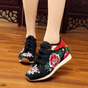 Embroidery Floral Sneakers