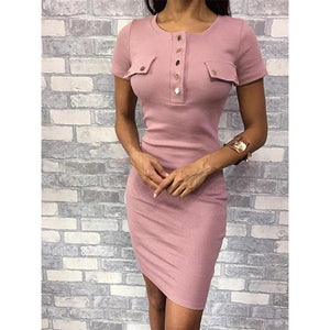 Round-Collared Bodycon Dresses