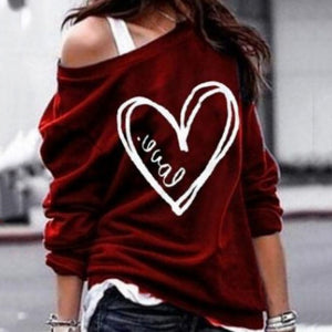 Loose Type Shoulder Fashion Sweater