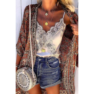 Sexy Sling Sleeveless Lace Vest