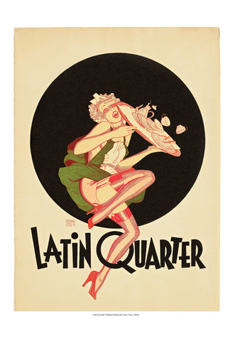 "A 1950s Latin Quarter Menu and ""Swiped"" Art"