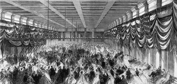 The Inaugural Ball Food Fight Of 1865