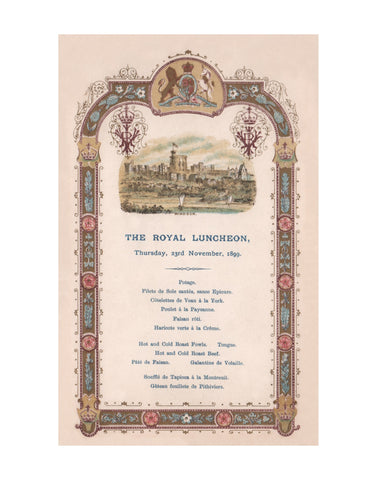 Queen Victoria The Royal Luncheon, Windsor Castle 1899
