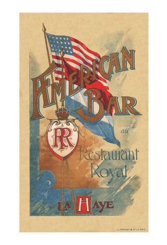 American Bar du Restaurant Royal, La Haye Late 19th Century