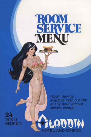Aladdin Hotel and Casino Room Service Menu, Las Vegas, 1960s