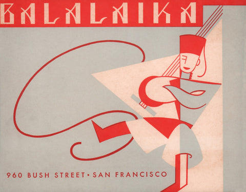 Balalaika, San Francisco 1950s Menu Art