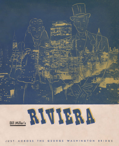 Bill Miller's Riviera Nightclub, Fort Lee, 1950s Menu Art