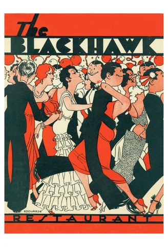 The Blackhawk Chicago 1933 Menu Art Rescue