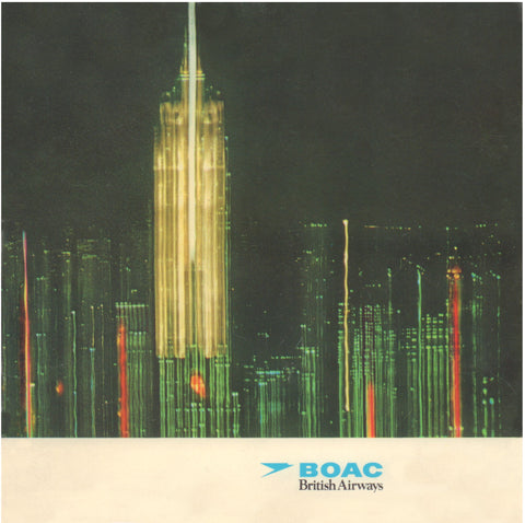 BOAC - British Airways: London - Philadelphia/Detroit 1970s Menu Art