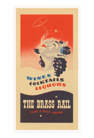 The Brass Rail, New York, 1938 Menu Art