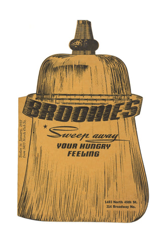 Broome's, Seattle 1937 Menu Art