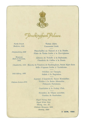 Buckingham Palace, June 4 1902 Jockey Club Dinner