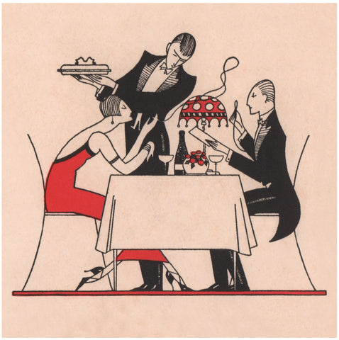 Café De Paris Diners, London 1925s Menu Art