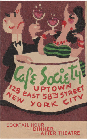 Café Society Uptown, New York 1940s