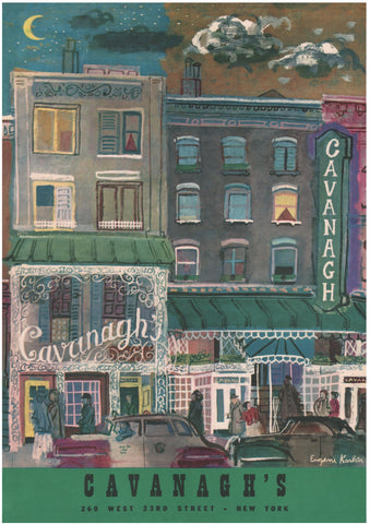 Cavanagh's, New York, 1954 Menu Art