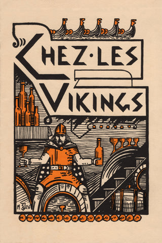 Chez Les Vikings Paris 1926 Menu Art