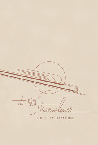 City of San Francisco Streamliner 1938 Menu Art