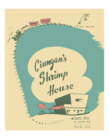 Ciungan's Shrimp House, Ecorse, Michigan 1954