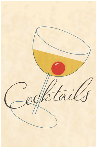 Cocktails Illustration 1930s