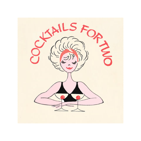 Cocktails for Two, 1960s Restaurant Cocktail Art