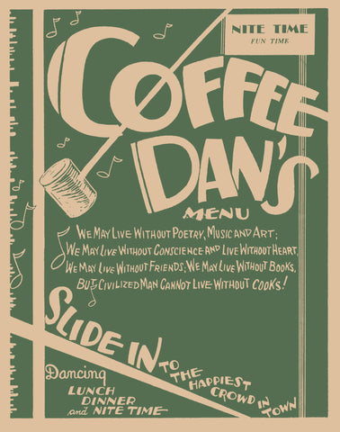 Coffee Dan's, Los Angeles 1930s Menu Art