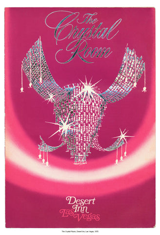 Crystal Room, Desert Inn, Las Vegas, 1970 Vintage Menu Art