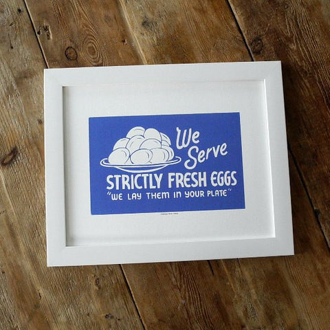 1950s Diner Sign Prints We Serve Strictly Fresh Eggs