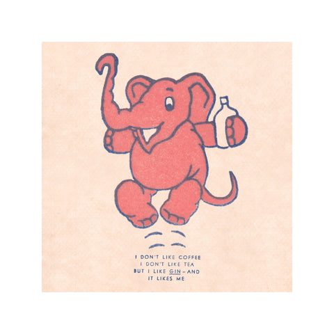 Pink Elephant set of 4 (Gin, Bottoms Up, You Name it  Drinks are on Me)