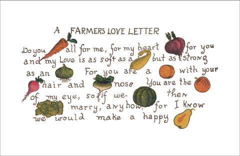A Farmers Love Letter, 1909 - Placemat