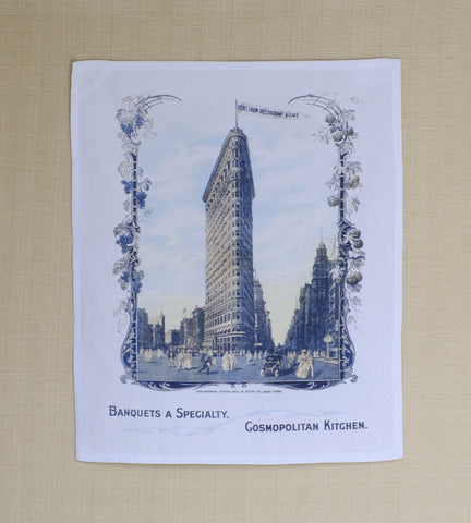Flat Iron Restaurant & Café, New York 1905 Kitchen Towel