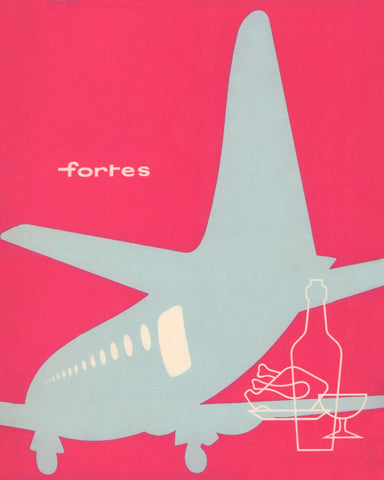 Fortes, London Airport 1960 Menu Art