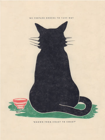 Frenchy's Black Cat, San Antonio Texas 1940s/1950s Rear Print