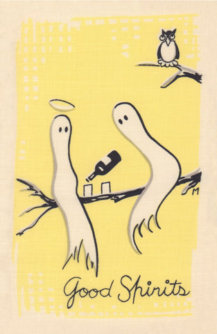 Good Spirits, Cocktail Story 1950s Napkin Print
