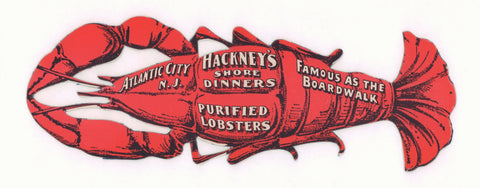Hackney's, Atlantic City 1930s Menu Art