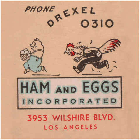 Ham & Eggs Incorporated #2, Los Angeles 1930s