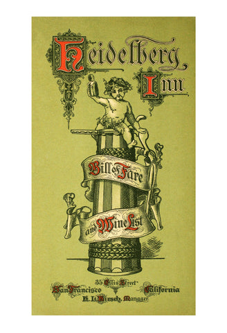 The Heidelberg Inn, San Francisco 1908