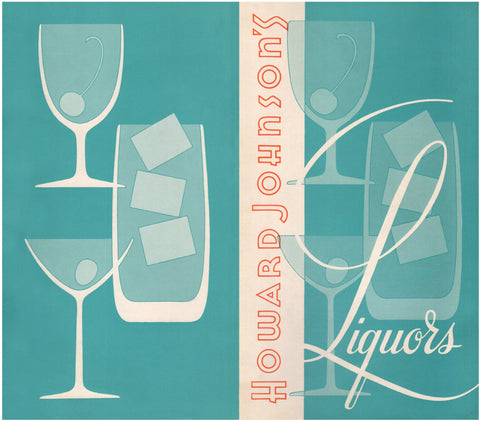 Howard Johnson's Liquors USA 1960s Menu Art