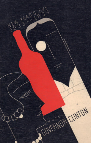 Hotel Governor Clinton, New York, 1933 Menu Art