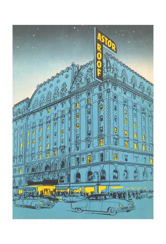 Hotel Astor, New York 1953 Menu Art
