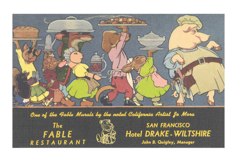 Fable Restaurant, Hotel Drake - Wiltshire, San Francisco 1948