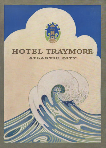 Hotel Traymore, Atlantic City 1920s Menu Art