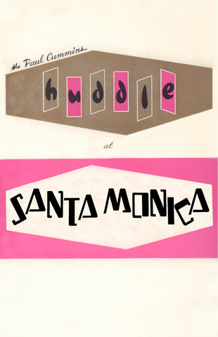 The Paul Cummins Huddle, Santa Monica 1960s Menu Art